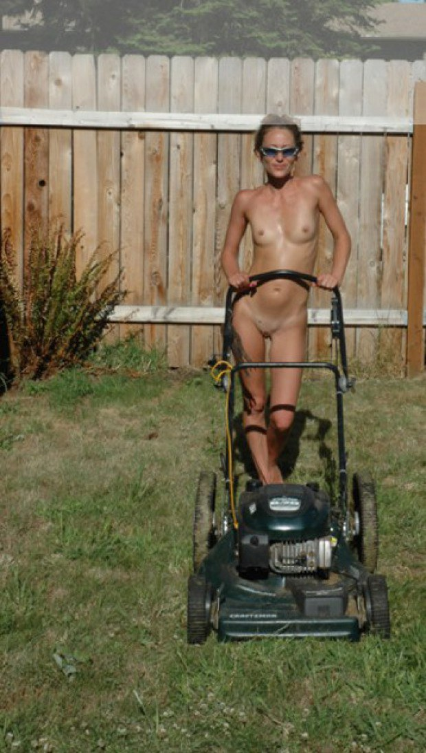 Outdoor Nudes Teenage Girls Doing Yard Work