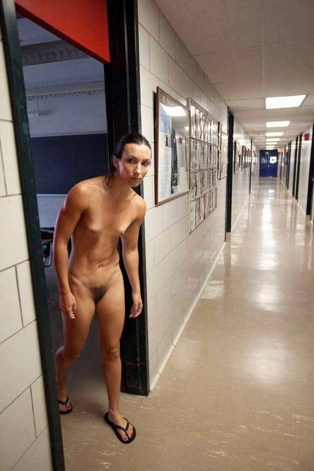 Naked exibitionist