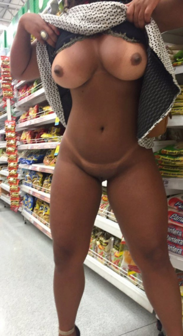 completely naked women in public