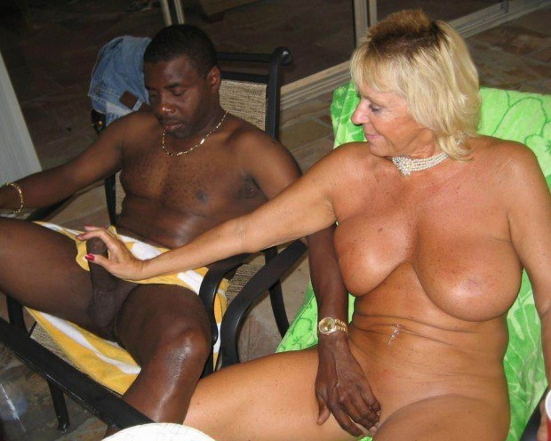 Busty mature plays with the BBC for a bit