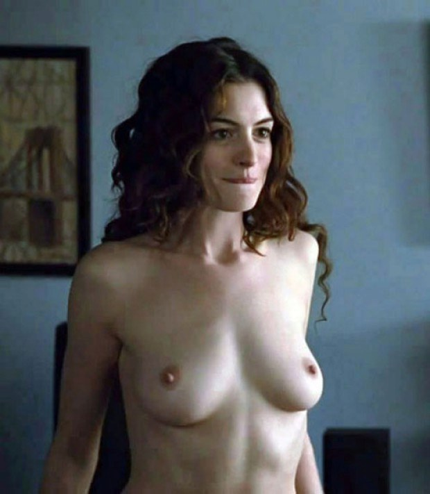 Gorgeous Anne Hathaway is topless in this movie scene