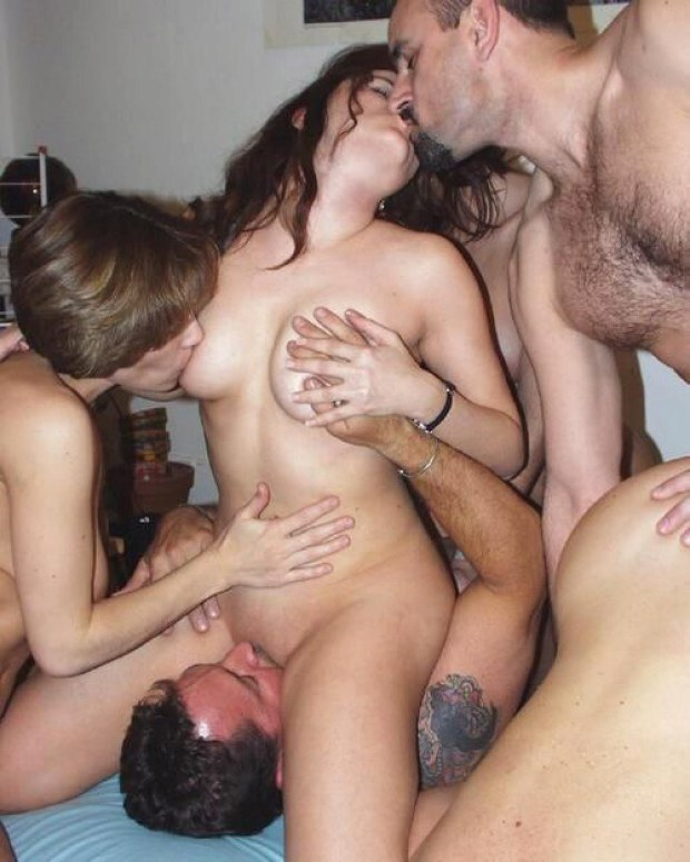 Busty Wife Shared Between A Group Of Swingers-3057