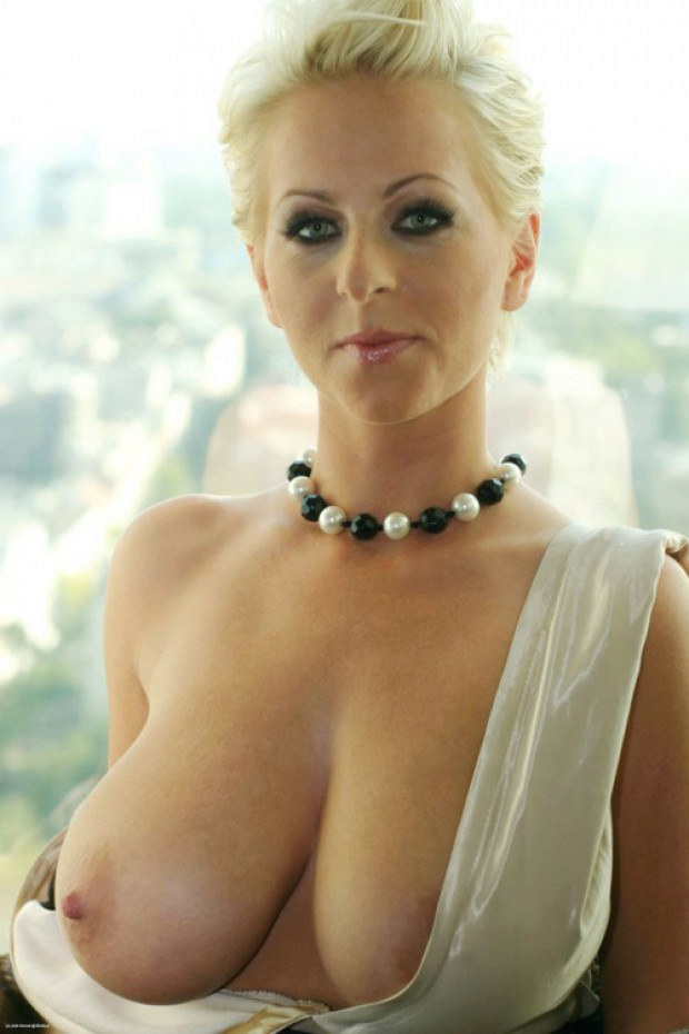 Blonde milf boobs