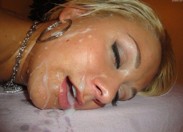 Cum splattered blonde sleeping satisfied