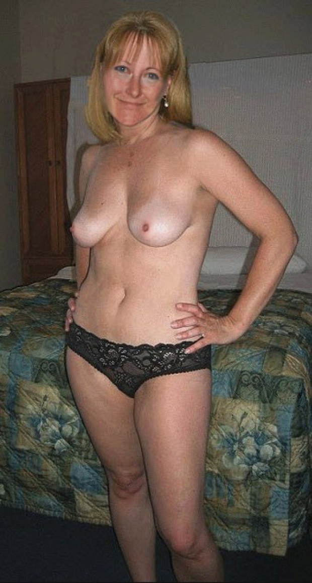 Amateur milf wife posing