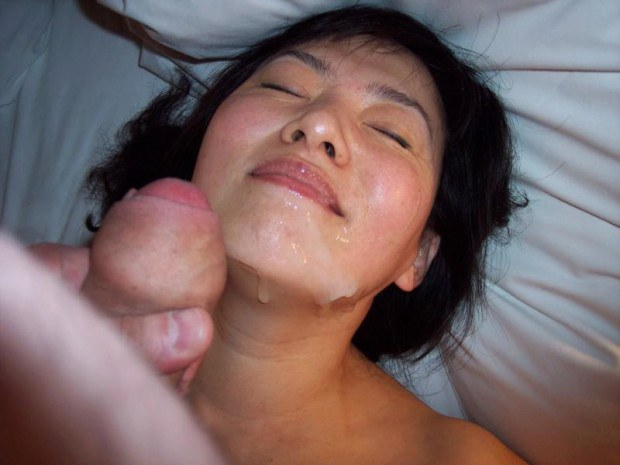 Asian cum face