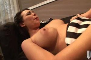 Brunette cheerleader in anal sex