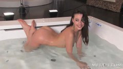 Seductive Lorena showering and exposing her snatch