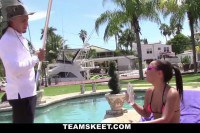 ExxxtraSmall - Short Teen Fucked By Pool Boy