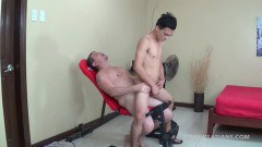 Hot daddy getting dirty with his gay friend