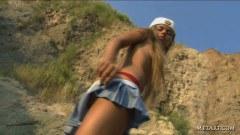 Sexy Milena nude outdoors