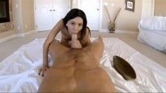 Gorgeous masseuse fucked POV style