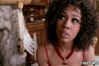 Stunning ebony babe fucked and facialized by her stud