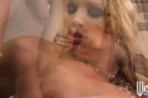 Blonde secretary seduces and fucks her boss