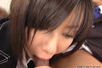 Sexy Japanese secretary on her first time at work!