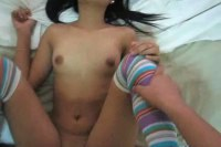 Cute young asian pumped