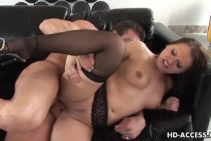 Sexy Katja Kassin takes it in the ass