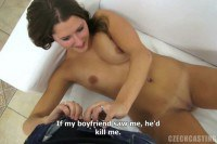 Casting Czech Michaela Gets Horny During Interview