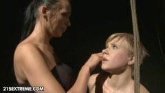 Nerd slut punished and toyed by a mature mistress